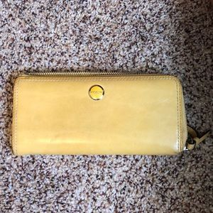Yellow Coach Clutch; Colorful Interior